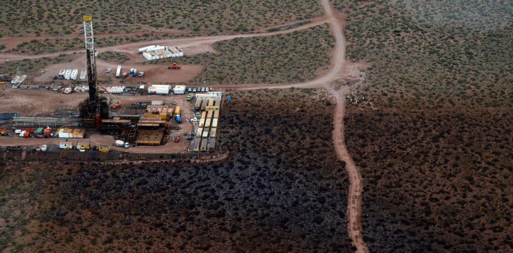 Imágenes satelitales de un derrame en el área Bandurria